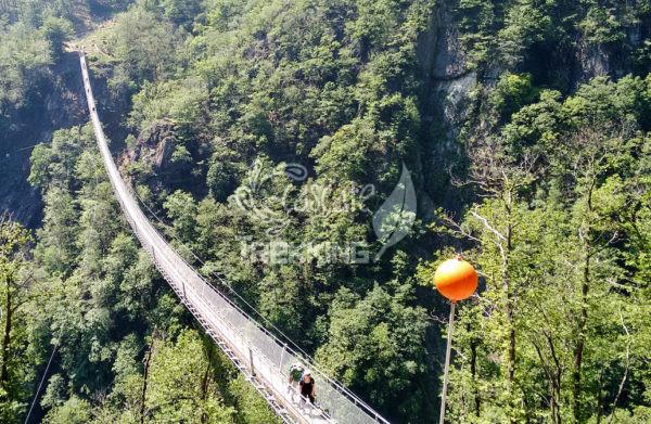 Bellinzona Monte Carasso Ponte Tibetano Carasc 1